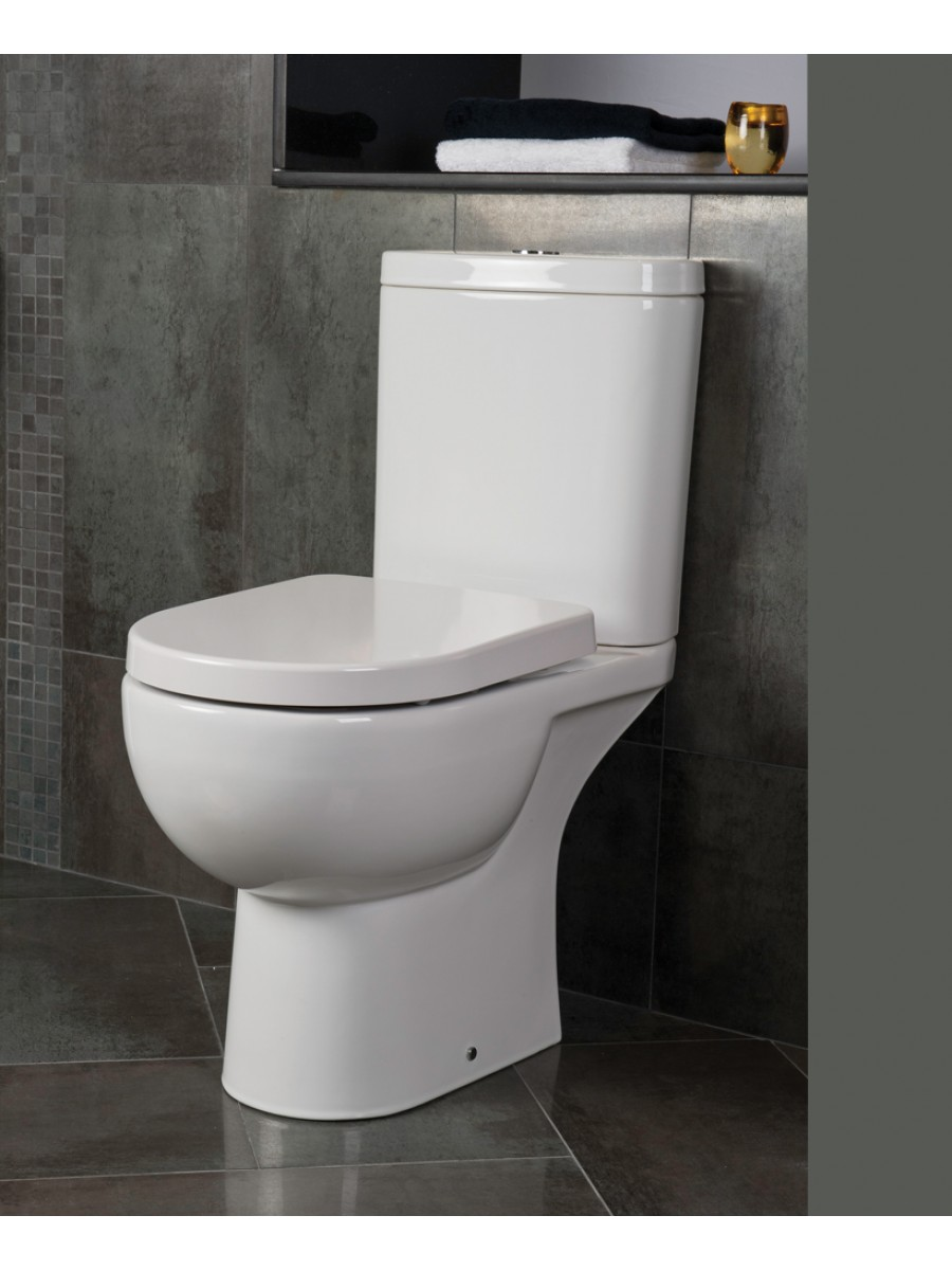 RAK Tonique Close Coupled Toilet & Soft Close Seat - Comfort Height - Projection 625mm