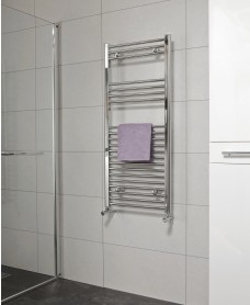 Straight 1200x600 Heated Towel Rail Chrome