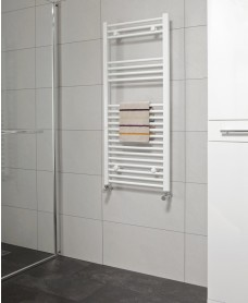 Straight 1200x500 Heated Towel Rail White