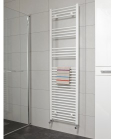 Straight 1800x500 Heated Towel Rail White