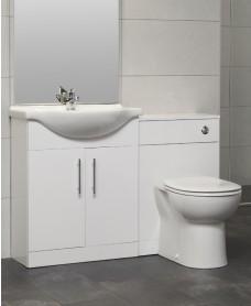 Blanco 65cm WC Combination Unit - with Twyford BTW Toilet Soft Close Seat