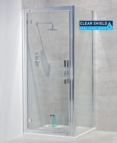 Avante 8mm 900 x 800 Hinged Shower Door