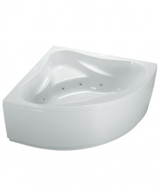 Sutton 1400x1400 Corner 8 Jet Whirlpool Bath with Bath Panel