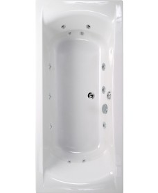 Oxford 1700x750 Double Ended 12 Jet Whirlpool Bath