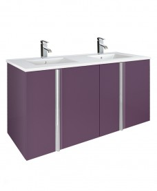 Athena Aubergine 120cm Double Vanity Unit 4 Door & Basin