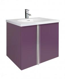 Athena Aubergine 60cm Vanity Unit 2 Door and Sink