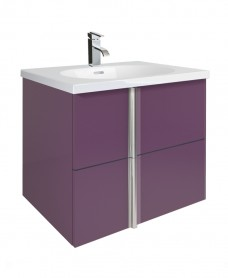 Athena Aubergine 60cm Vanity Unit 2 Drawer and Aida Basin