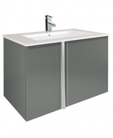 Athena Gloss Grey 80cm Vanity Unit 2 Door & Basin