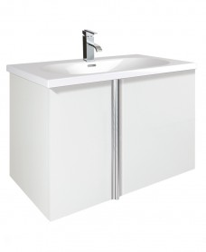 Athena White 2 Door 80cm Wall Hung Vanity Unit and Aida Basin