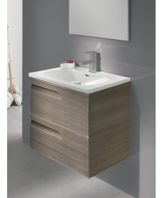 Pravia Ash 60cm Vanity Unit 2 Drawer and Aida Basin