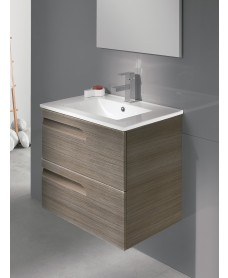 Pravia Ash 60cm Vanity Unit 2 Drawer and Basin