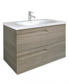 Pravia Ash 80cm Vanity Unit 2 Drawer and Aida Basin