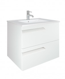 Pravia White 60cm Vanity Unit 2 Drawer and Basin