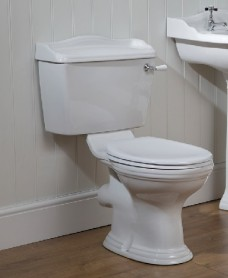 Oxford Close Coupled Toilet & Soft Close Seat and Lever Flush