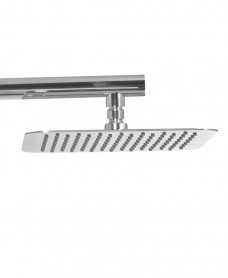 Caria Square 200 Shower Head & 440 Luxary Wall Shower Arm - Ultra Thin