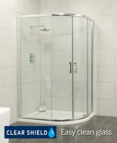 Cello 1200x900 Offset Quadrant Enclosure - Adjustment 1165-1190mm + 865-890mm