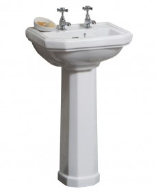 Twyford Clarice Cloakroom Basin  45cm  & Pedestal