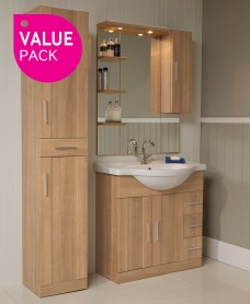 Cordoba Oak Furniture Pack - Tap Included