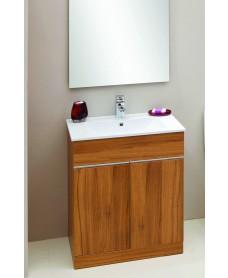 Attica Walnut 60cm Vanity Unit & Totano Washbasin