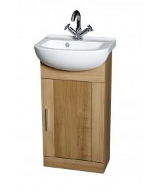 Cordoba Oak 45cm Vanity Unit & Basin
