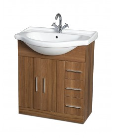 Cordoba Walnut 75cm Vanity Unit & Basin