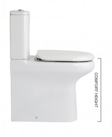 RAK Compact Fully Shrouded Toilet & Soft Close Seat - Comfort Height
