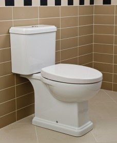 RAK Decor Close Coupled Toilet & Soft Close Seat - PRICE INCLUDES PAN, CISTERN AND SEAT
