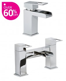 Della Basin Mixer and Bath Shower Mixer Set with  FREE Click Clack Basin Waste