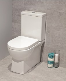 Arizona Fully Shrouded Toilet and Soft Close Seat - multi outlet