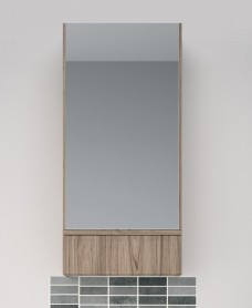Twyford E100 Grey Ash Mirror Cabinet - 493mm
