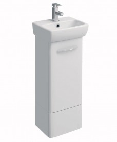 Twyford E100 360 White Vanity Unit - Floor Standing