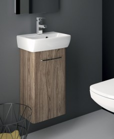 Twyford E100 360 Grey Ash Venity Unit - Wall Hung