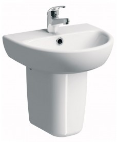 Twyford E100 Round 450 Basin & Semi Pedestal