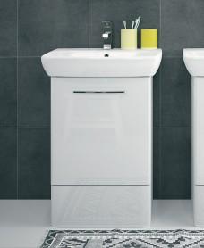 Twyford E100 500 White Vanity Unit - Floor Standing