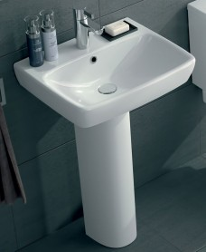 Twyford E100 Square 600 Basin & Pedestal