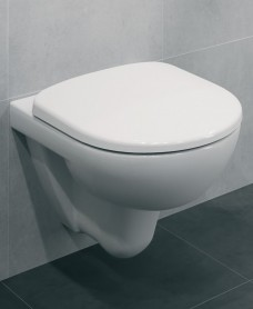 Twyford E100 Round Wall Hung Toilet & Standard Seat