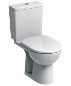 Twyford E100 Square Standard Close Coupled Toilet & Standard Seat