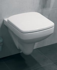 Twyford E100 Square Wall Hung Toilet & Soft Close Seat