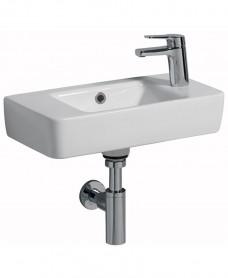 Twyford E200 500 Handrinse Basin - Right Hand Tap, Left Hand Bowl