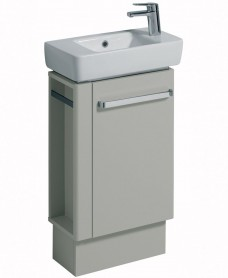 Twyford E200 500 Grey Vanity Unit Floor Standing RH Tap with Left Towel Rail
