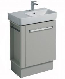 Twyford E200 650 Grey Vanity Unit Floor Standing with LH Towel Rail