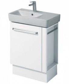 Twyford E200 650 White Vanity Unit Floor Standing with RH Towel Rail