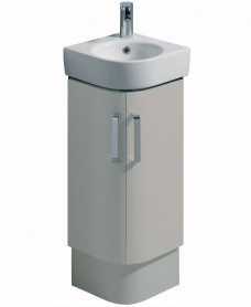 Twyford E200 320 Grey Corner Vanity Unit Floor Standing