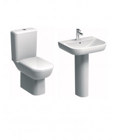 Twyford E500 Round Rimfree® Toilet and Wash Basin Set