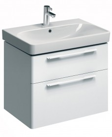 Twyford E500 750 White Vanity Unit and Basin Wall Hung