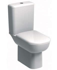 Twyford Twyford E500 Round Rimfree® Close Coupled Toilet & Standard Seat
