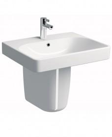 Twyford E500 Square 600 Basin & Semi Pedestal