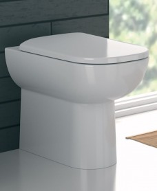 Twyford E500 Square Back To Wall Toilet & Standard Seat