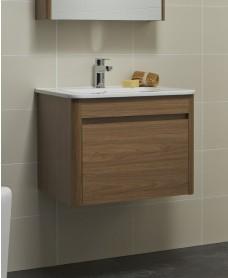 Elora 60cm Walnut Vanity Unit and Basin