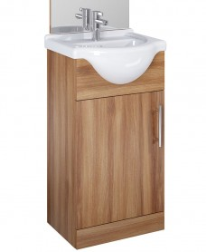 Blanco Walnut 45cm Vanity Unit, Basin
